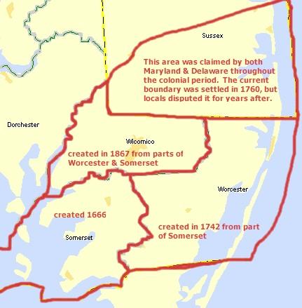 Worcester MDGenWeb Maps